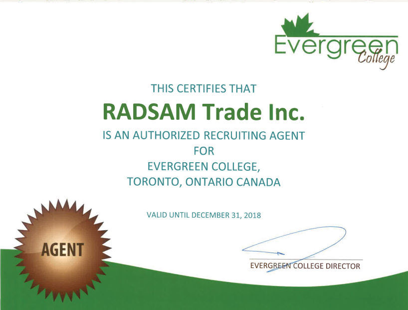 RADSAM Education & Immogration Agency EverGreen College