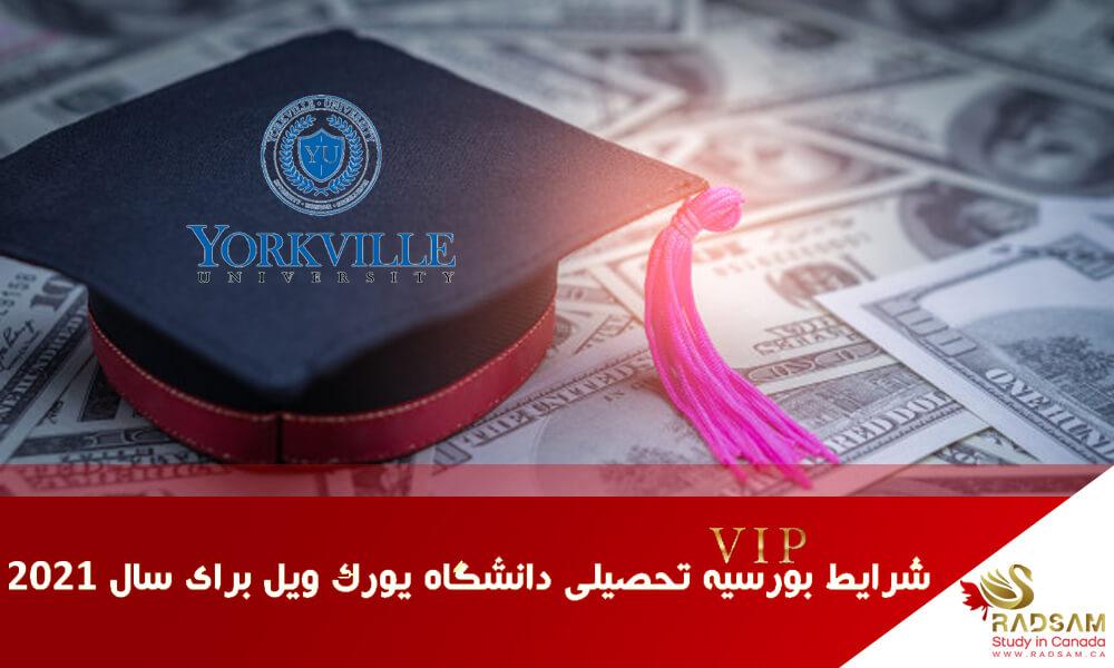 شرایط بورسیه تحصیلی دانشگاه یورک ویل برای سال 2021 | رادسام