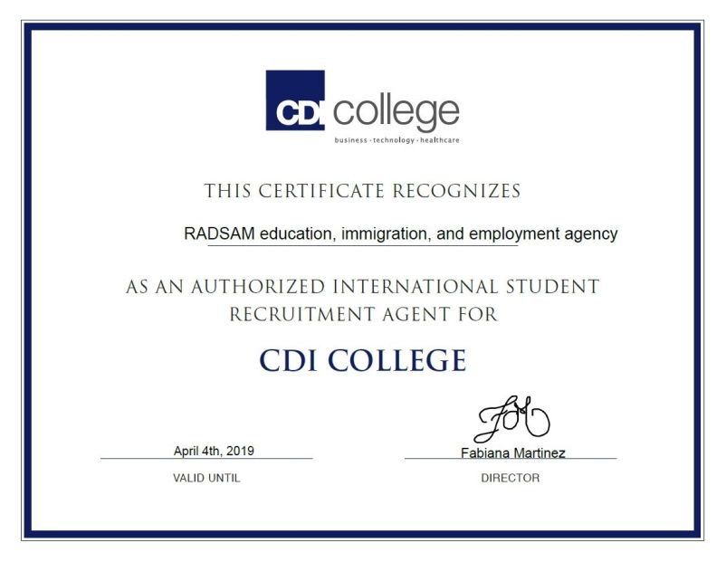 RADSAM Education & Immogration Agency CDI College