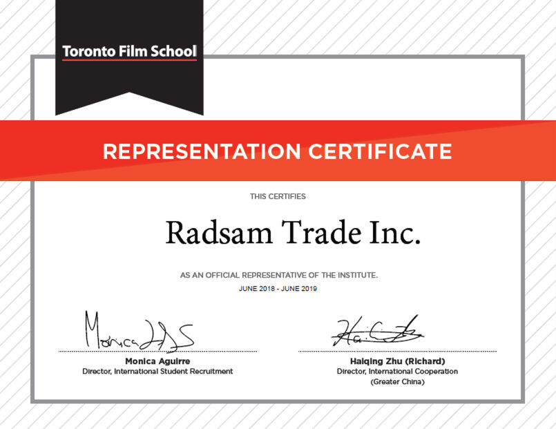 RADSAM Education & Immogration Agency Toronto Film School